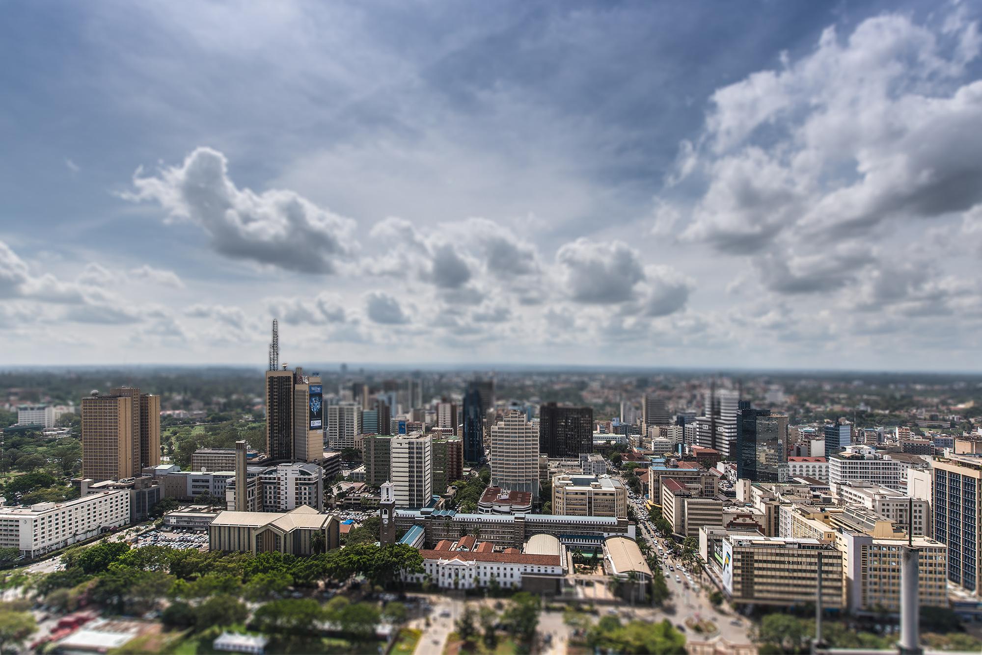 Skyline of downtown Nairobi